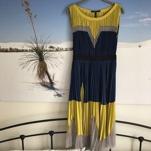 BCBG ART DECO PLEATED DRESS